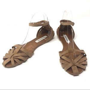 Steve Madden Leather Franklin Sandals Flats Sz 10
